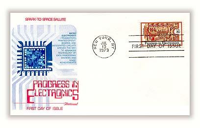 1973 8c Progress in Electronics: Transistors and Printed Circuit