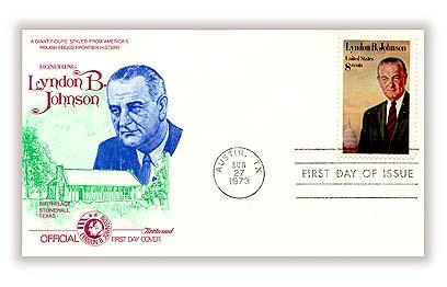 1973 8c Lyndon B. Johnson
