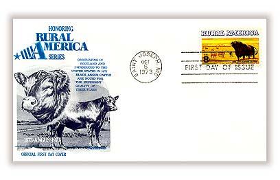 1973 8c Rural America: Angus Cattle