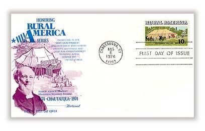 1974 10c Rural America: Chautauqua Tent