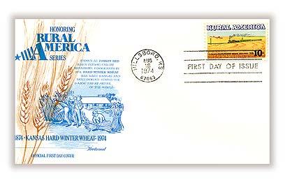 1974 10c Rural America: Winter Wheat and Train