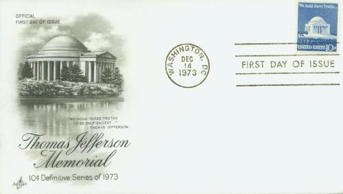 1973 10c Jefferson Memorial