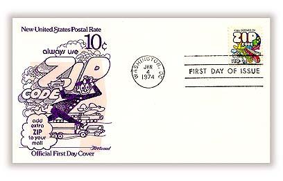 1974 10c Zip Code