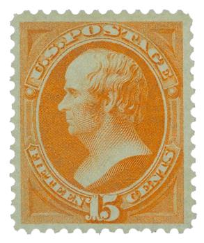 1870-71 15c Webster, bright orange