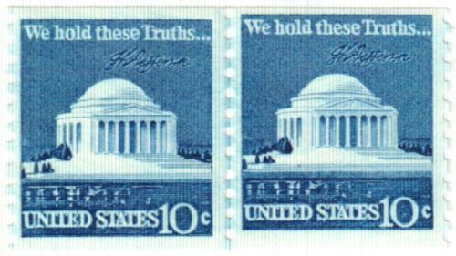 1973-74 10c Jefferson Memorial, coil