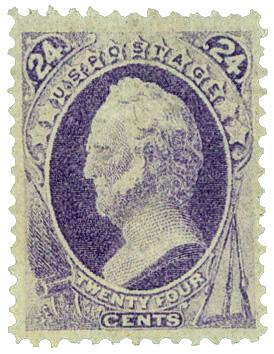 1870-71 24c General W. Scott, purple