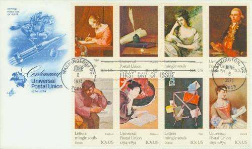 1974 10c Universal Postal Union