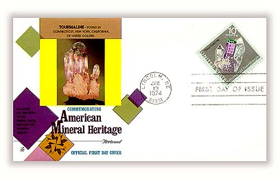1974 10c Mineral Heritage: Tourmaline