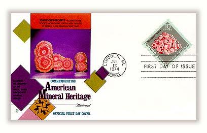 1974 10c Mineral Heritage: Rhodochrosite