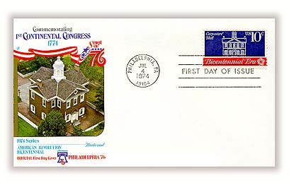 1974 10c First Continental Congress: Carpenters' Hall