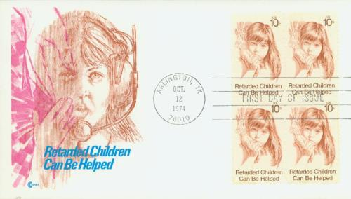 1974 10c Retarded Children For Sale At Mystic Stamp Company