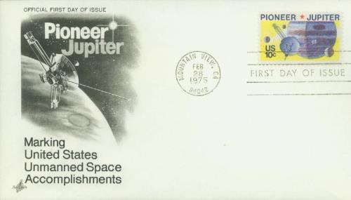1975 10c Pioneer 10 - Jupiter