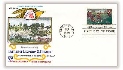 1975 10c Battle of Lexington and Concord