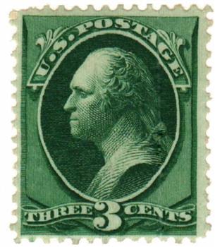 1873 3c Washington, green