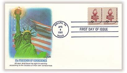 1975-81 12c Americana Series: Statue of Liberty Torch