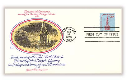 1975 24c Americana Series: Old North Church