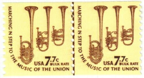 1976 7.7c Americana Series: Saxhorn