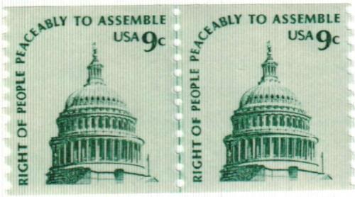 1976 9c Americana Series: Capitol Dome, coil
