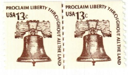 1975 13c Americana Series: Liberty Bell, coil