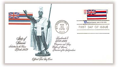 1976 Hawaii flag Fleetwood First Day Cover