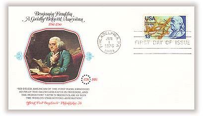 1976 13c Benjamin Franklin