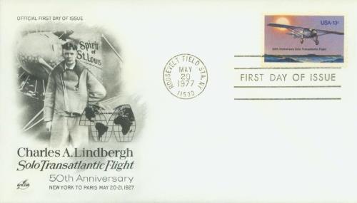 1977 13c Lindbergh Flight