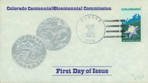 1977 13c Colorado Statehood