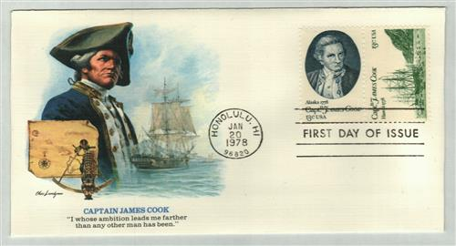 1978 13c Captain Cook set of 2 stamps