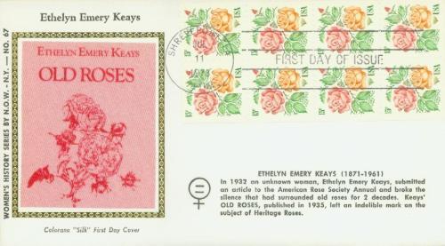 1978 15c Medallion Roses,bklt pane of 8