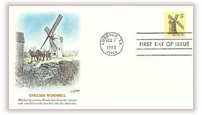 1980 15c Windmills: Rhode Island
