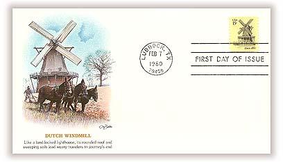 1980 15c Windmills: Illinois