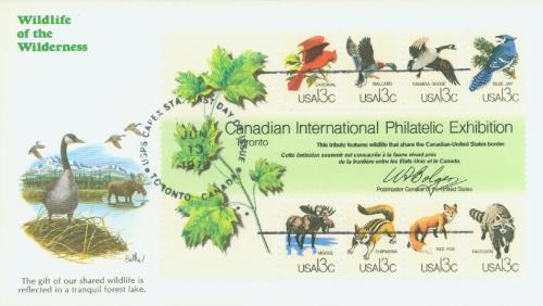 1978 13c CAPEX Wildlife souvenir sheet