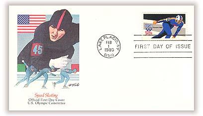 1980 15c Winter Olympics: Skater