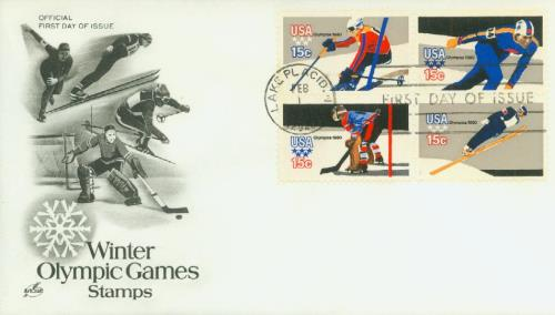 1980 15c 13th Winter Olympic Games