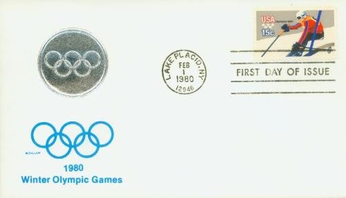 1980 Winter Olympics, Downhill Skier 15c