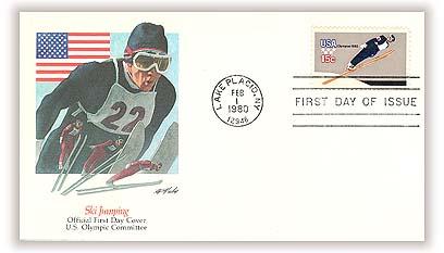 1980 15c Winter Olympics: Ski Jumper