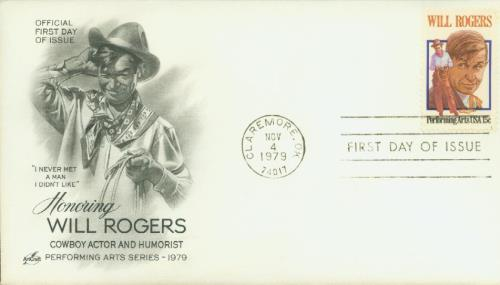U.S. #1801 FDC – 1979 Rogers First Day Cover.