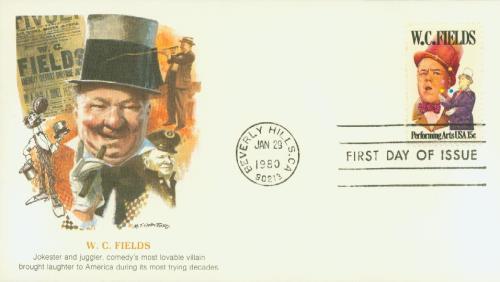 1980 15c Performing Arts: W. C. Fields