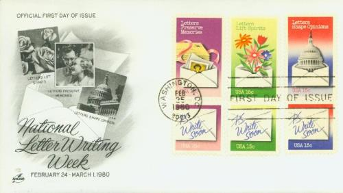 1980 15c Letter Writing