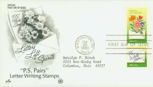 1980 15c Letter Writing: Letters Lift Spirits