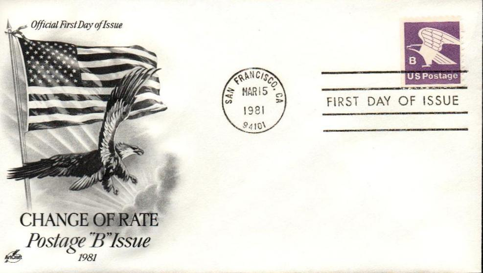 1980-81 18c Eagle from booklet