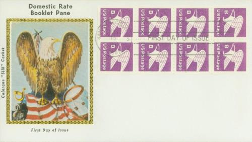 1980-81 18c Eagle,bklt pane of 8