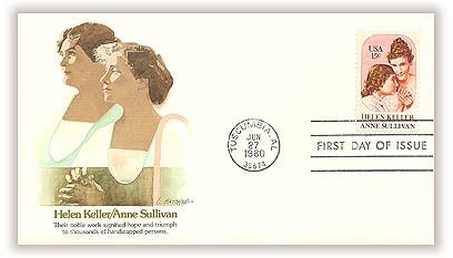 1980 15c Helen Keller and Anne Sullivan