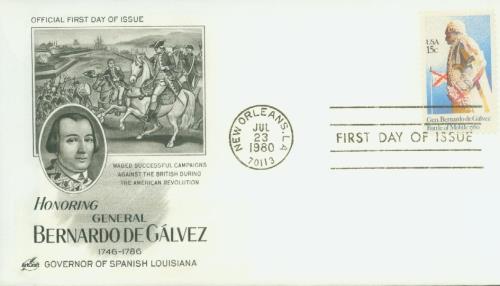 1980 15c Gen. Bernardo de Galvez