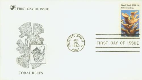 1980 Coral Reefs, Elkhorn Coral 15c