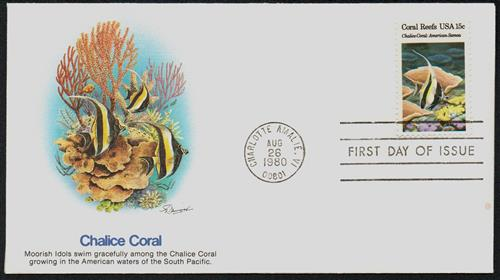 1980 15c Coral Reefs: Chalice Coral