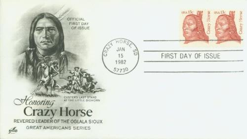 1982 13c Great Americans: Crazy Horse