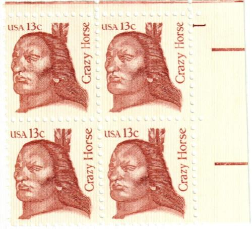 1982 13c Crazy Horse For Sale At Mystic Stamp Company