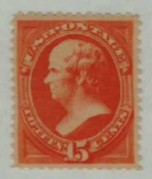 1879 15c Webster, red orange