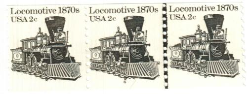 1982 2c Transportation Series: Locomotive, 1870s